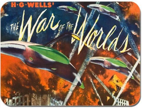 War Of The Worlds Mouse Mat Movie Poster Film Novelty Mouse pad HG Wells Sci Fi